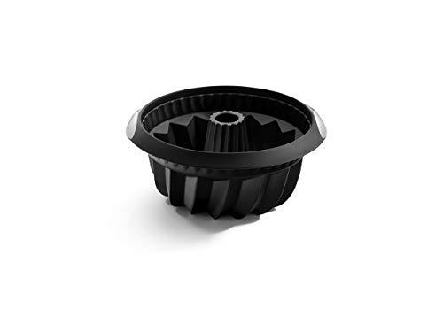 Lékué Savarin Hondo Negro Molde Silicona, 22 cm