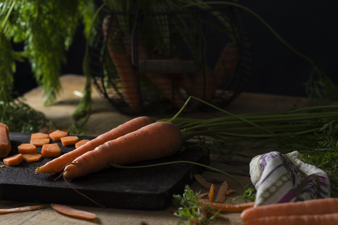 Zanahorias para el bizcocho de zanahoria