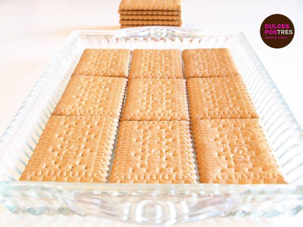 Base de galletas para la tarta de chocolate y galletas