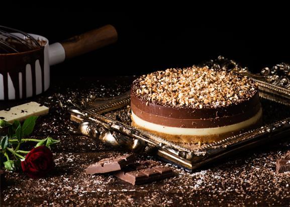 Tarta tres chocolates
