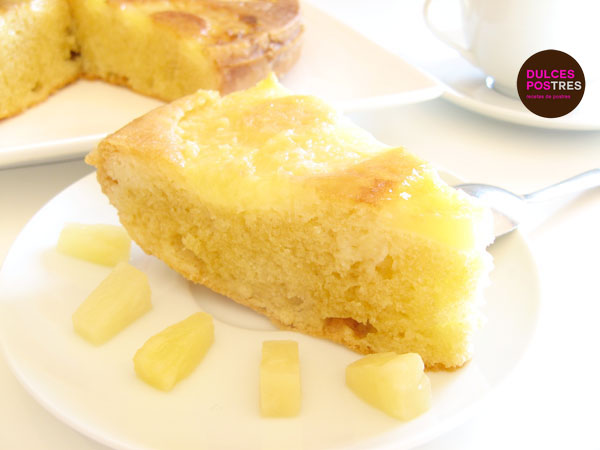 tarta de piña muy facíl