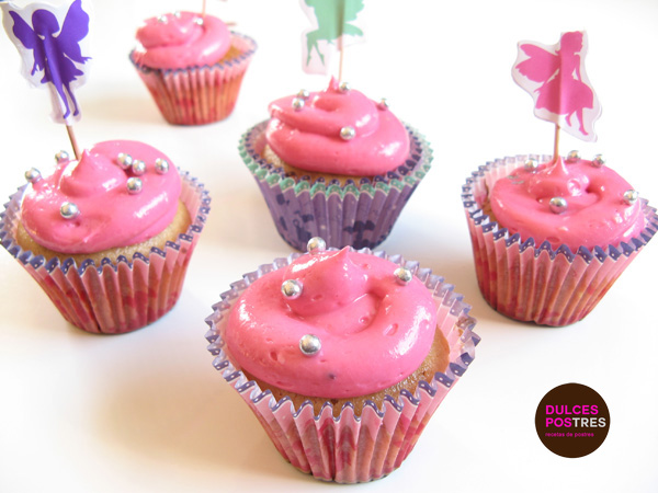 Cupcakes de Fresa para Princesas