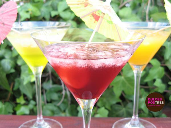 Granizado de limón, naranja y frutas rojas