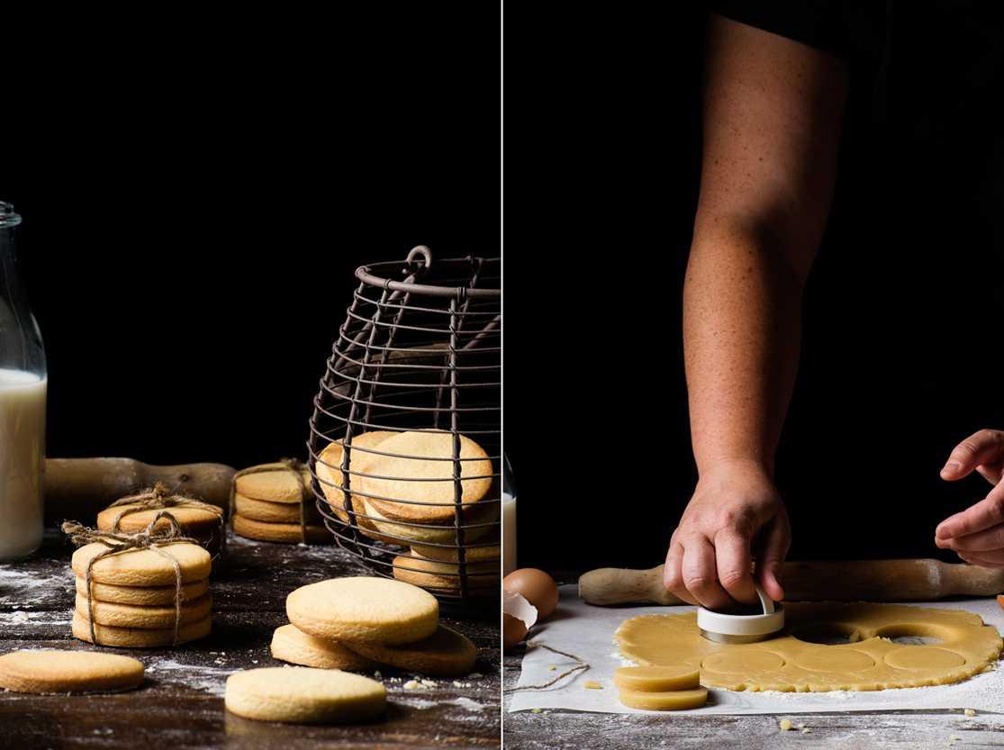 Ingredientes para hacer galletas de mantequilla