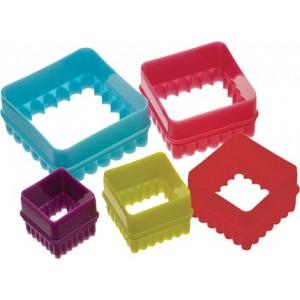 set cortadores moldes galletas cuadradas