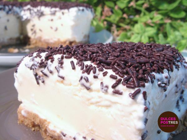 Tarta de chocolate blanco - Dulcespostres.com