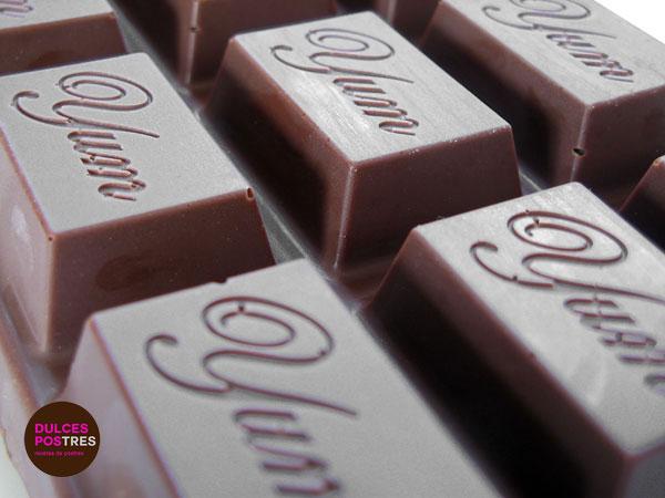 Turrón de chocolate casero detalle