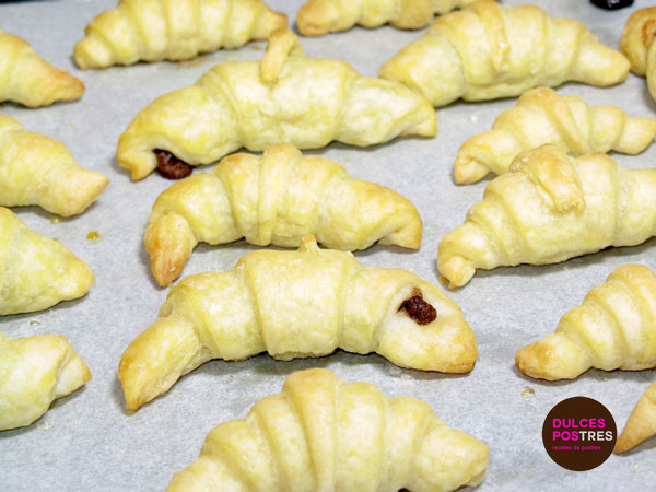 mini-croissants despues de hornear