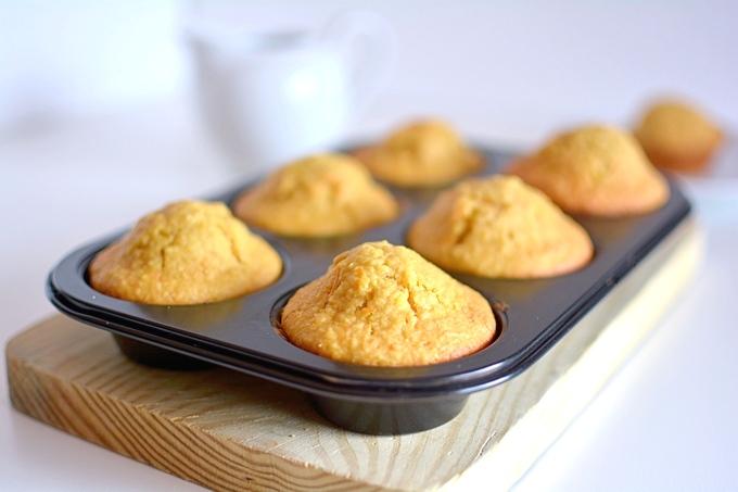 Muffins de coco con zanahoria