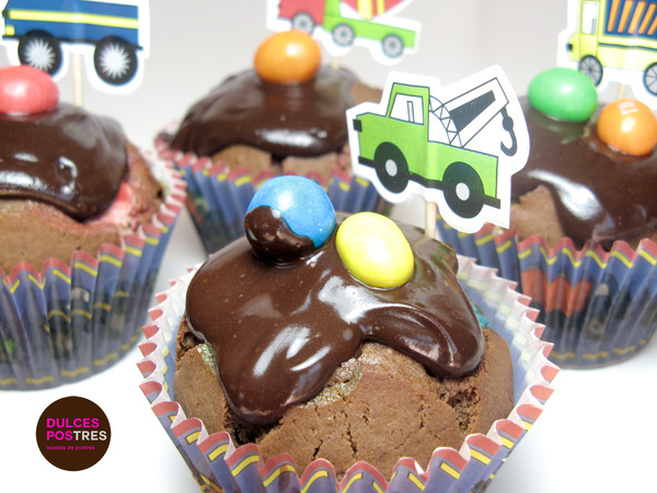 Muffins chocolate con mms