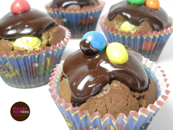 Muffins de chocolate con M&M´s