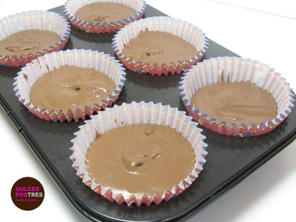 Capsulas de muffins de chocolate con mms