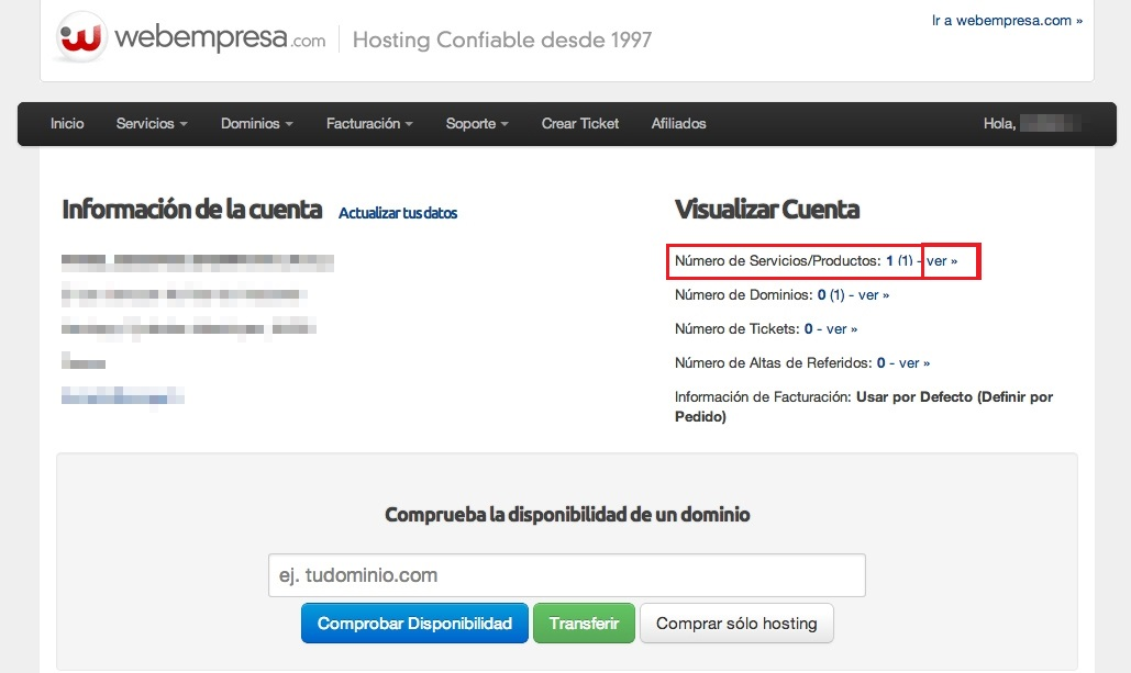 Instalación de WordPress registro