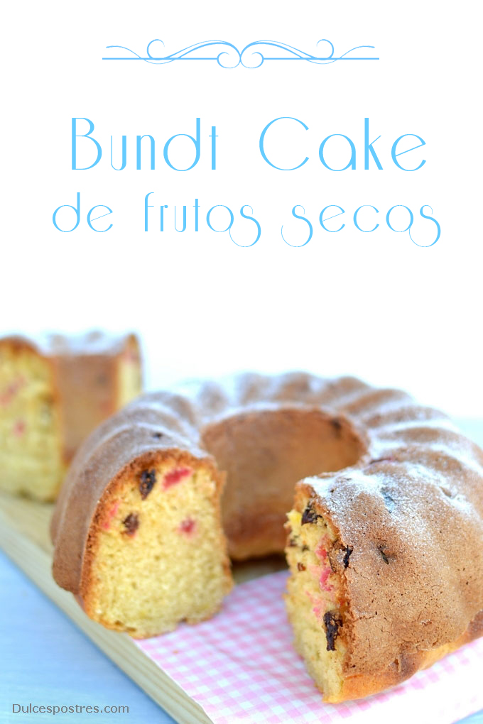Receta de Bundt cake con frutos secos