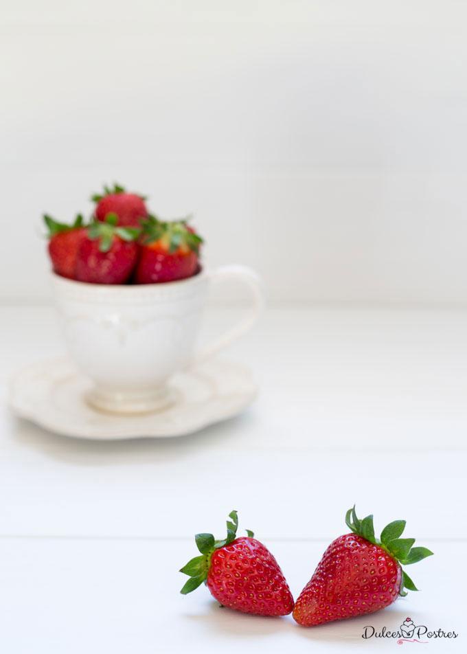 Foto de fresas en taza