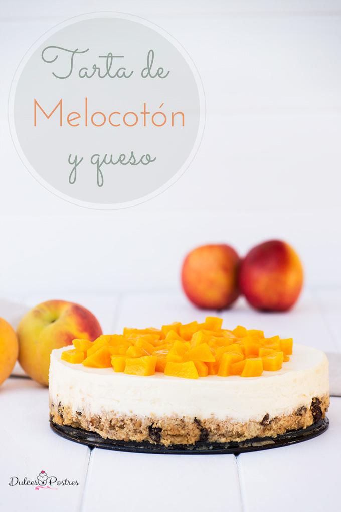 tarta de melocotón y queso