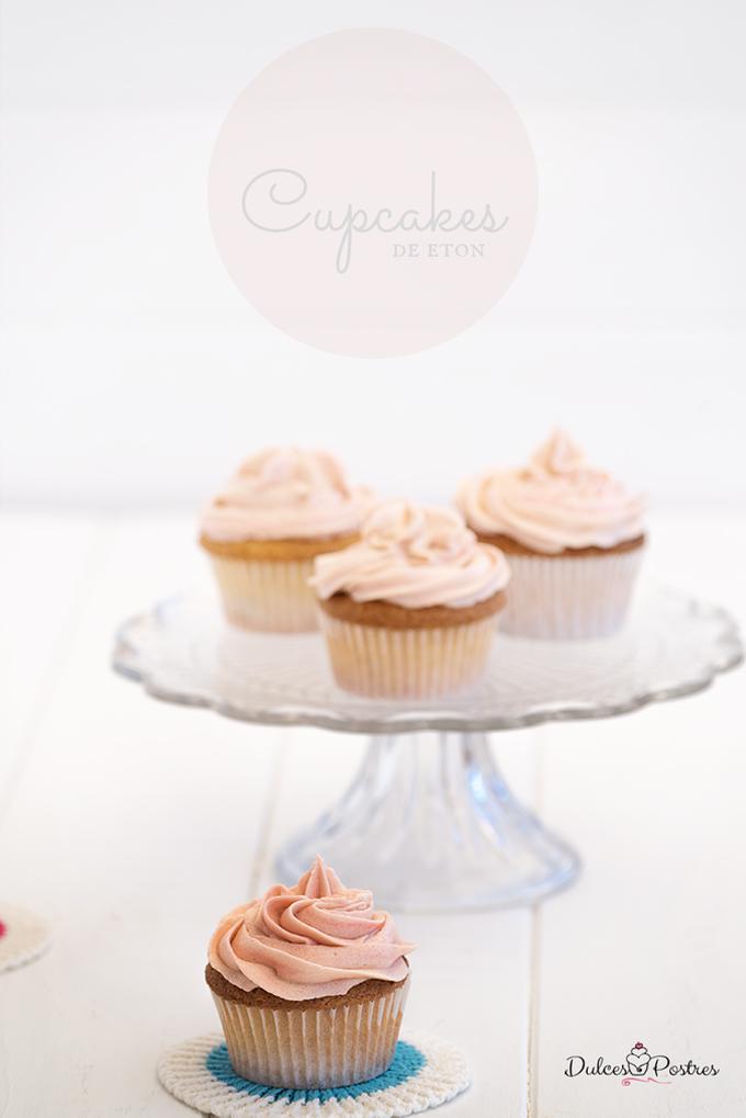 Cupcakes de Eton Receta