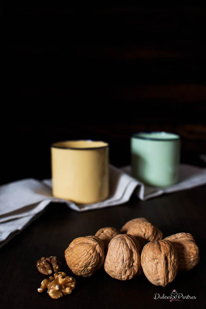 foto de nueces para el bizcocho de chocolate