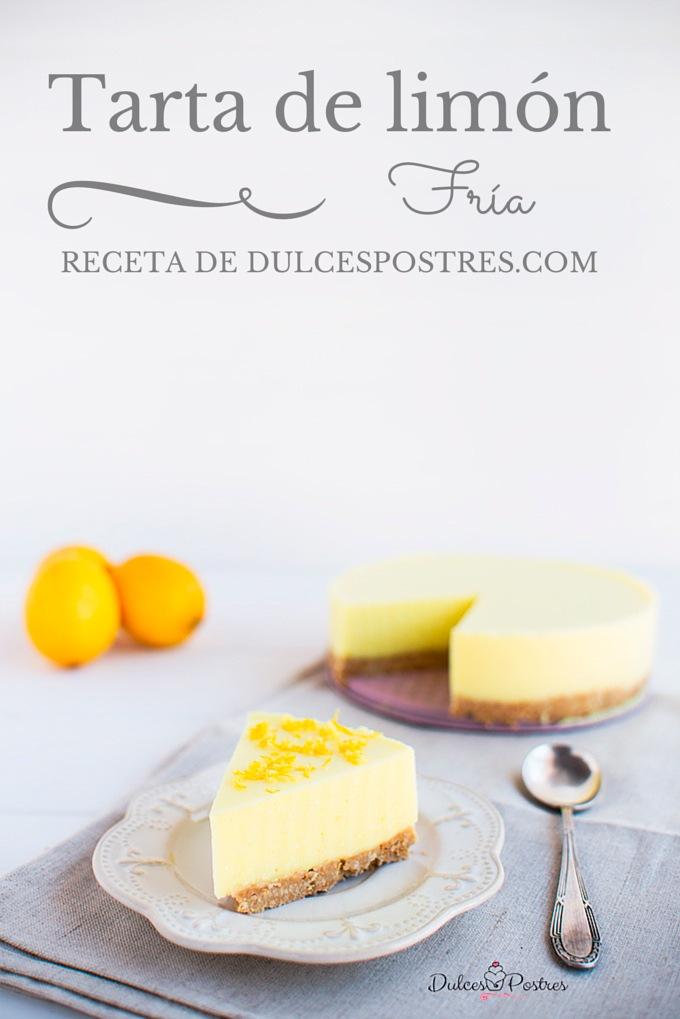 tarta de limón fría