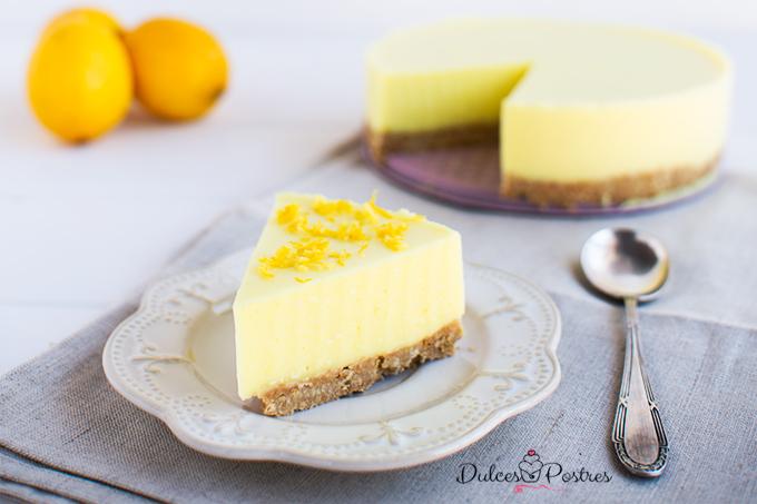 Receta de tarta de limon fria