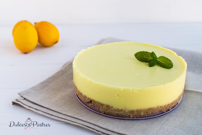 Tarta de limón fría entera