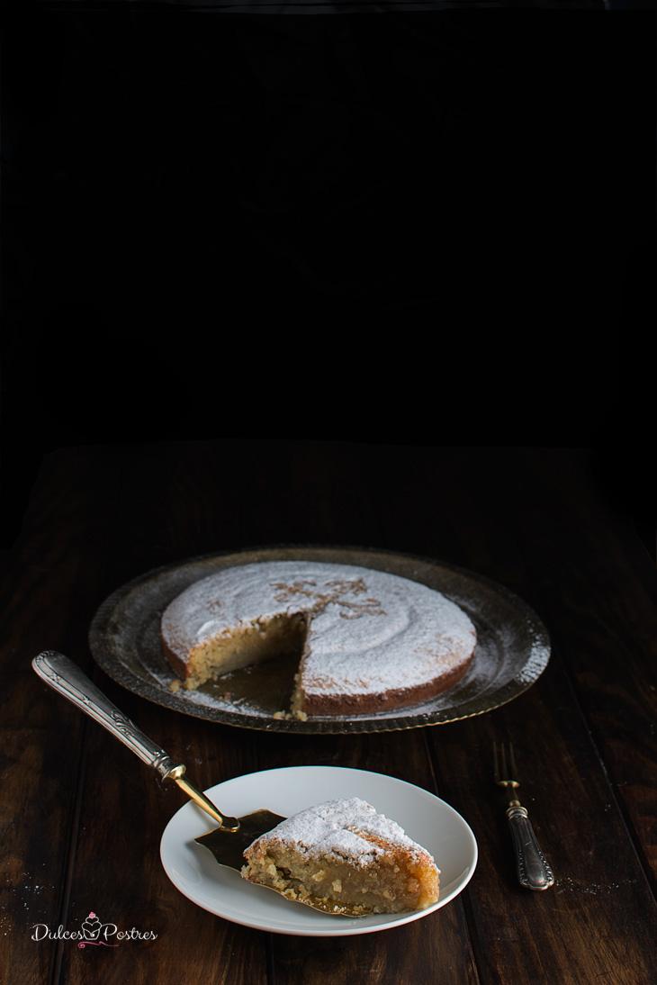 Porcion de tarta de Santiago