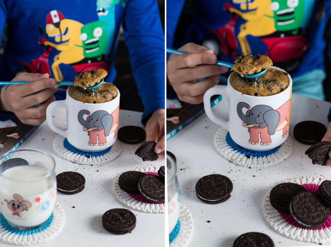 Receta de mug cake de Oreo