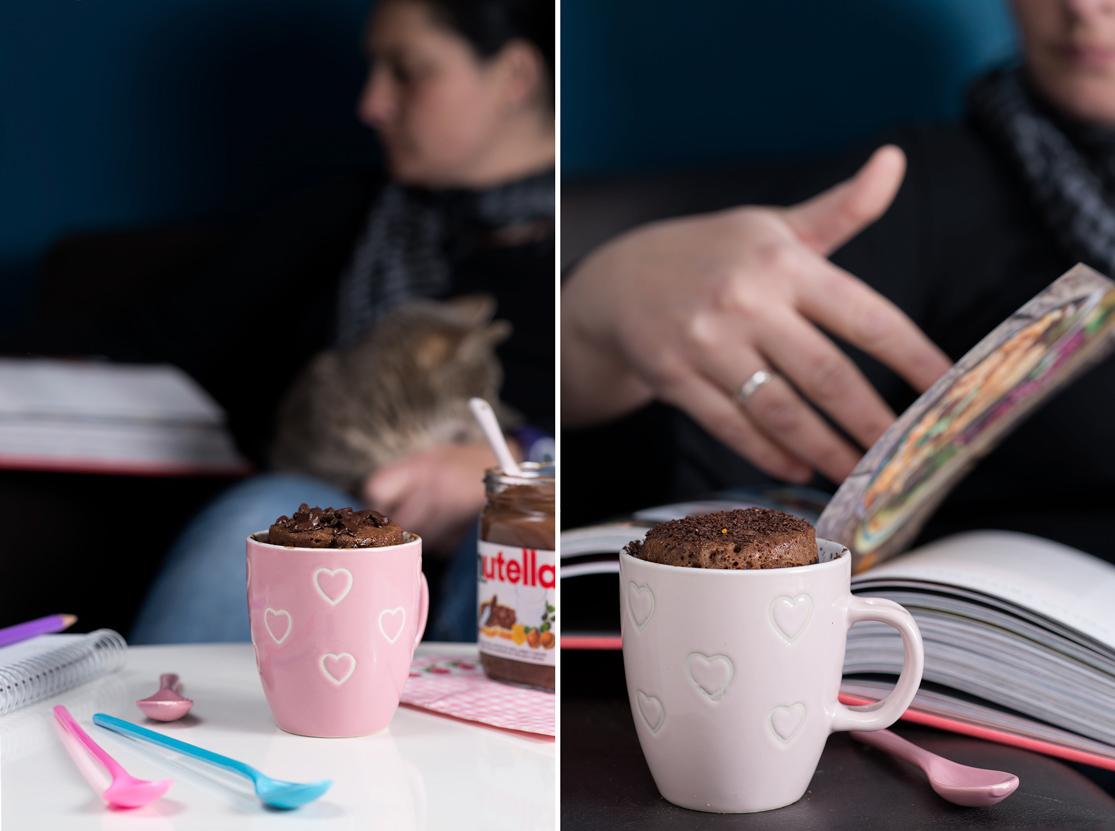 Cómo preparar un mug cake de Nutella