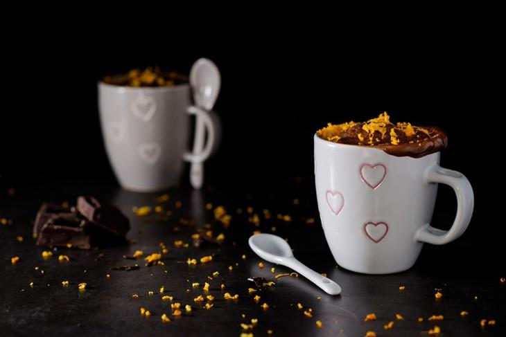 Mug cake de chocolate y naranja