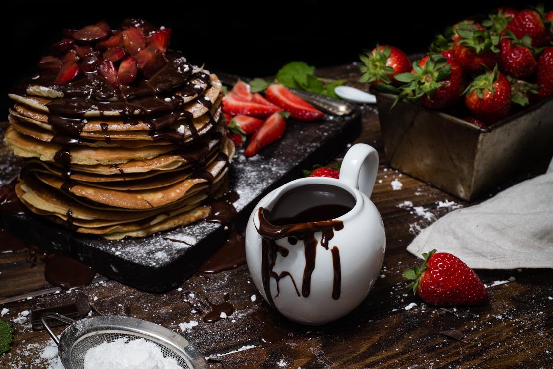 Chocolate para las tortitas americanas