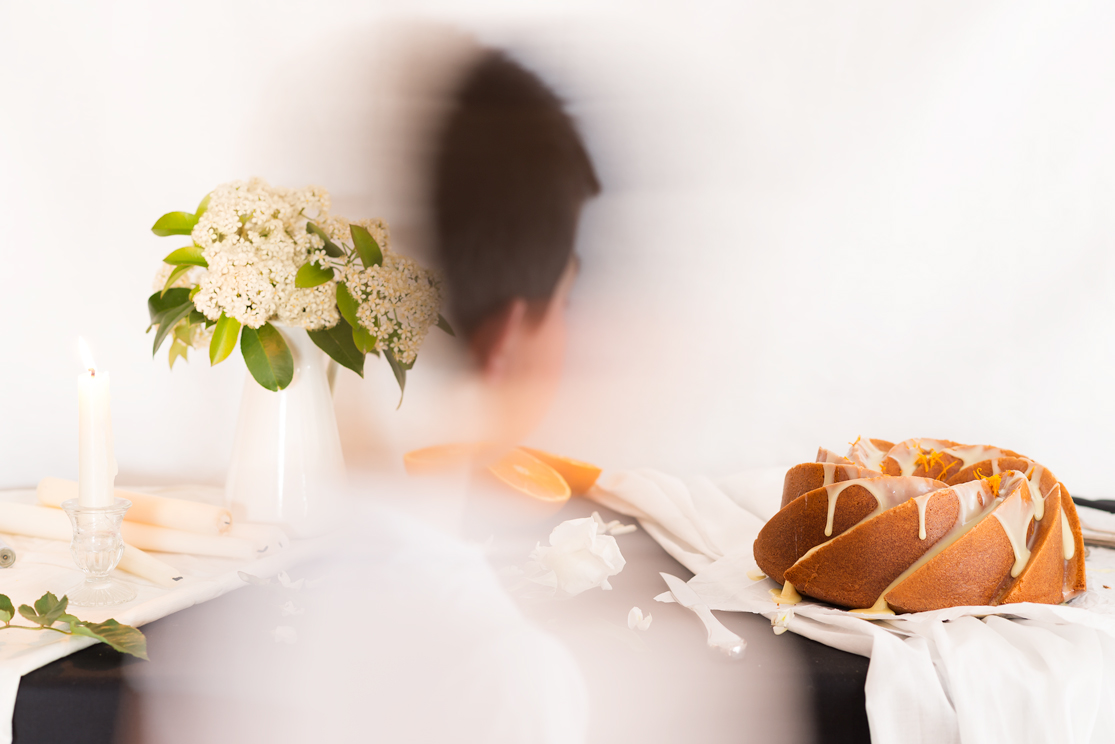 Receta de Bundt cake de naranja bañado en chocolate blanco-2