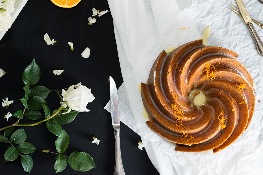 Bundt cake de naranja vista molde bundt heritage
