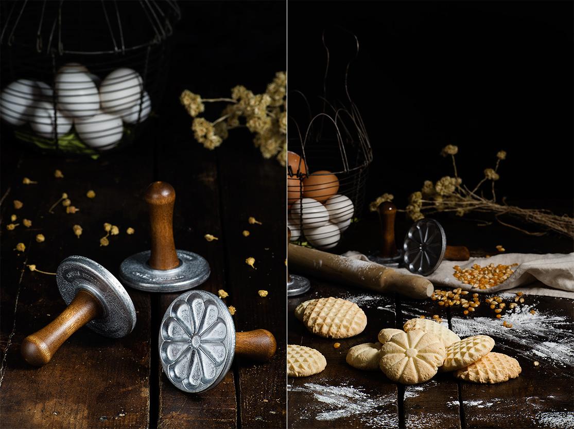 Masa de galletas sin gluten - Preparación con estampadores