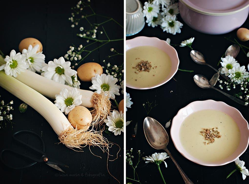 Receta de crema de puerro o vichysoisse - Cocinando con mi carmela