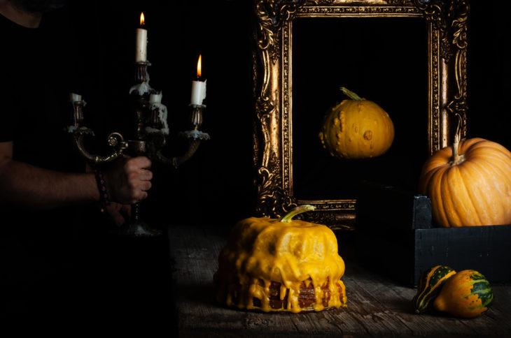 Bizcocho de calabaza ideal para Halloween