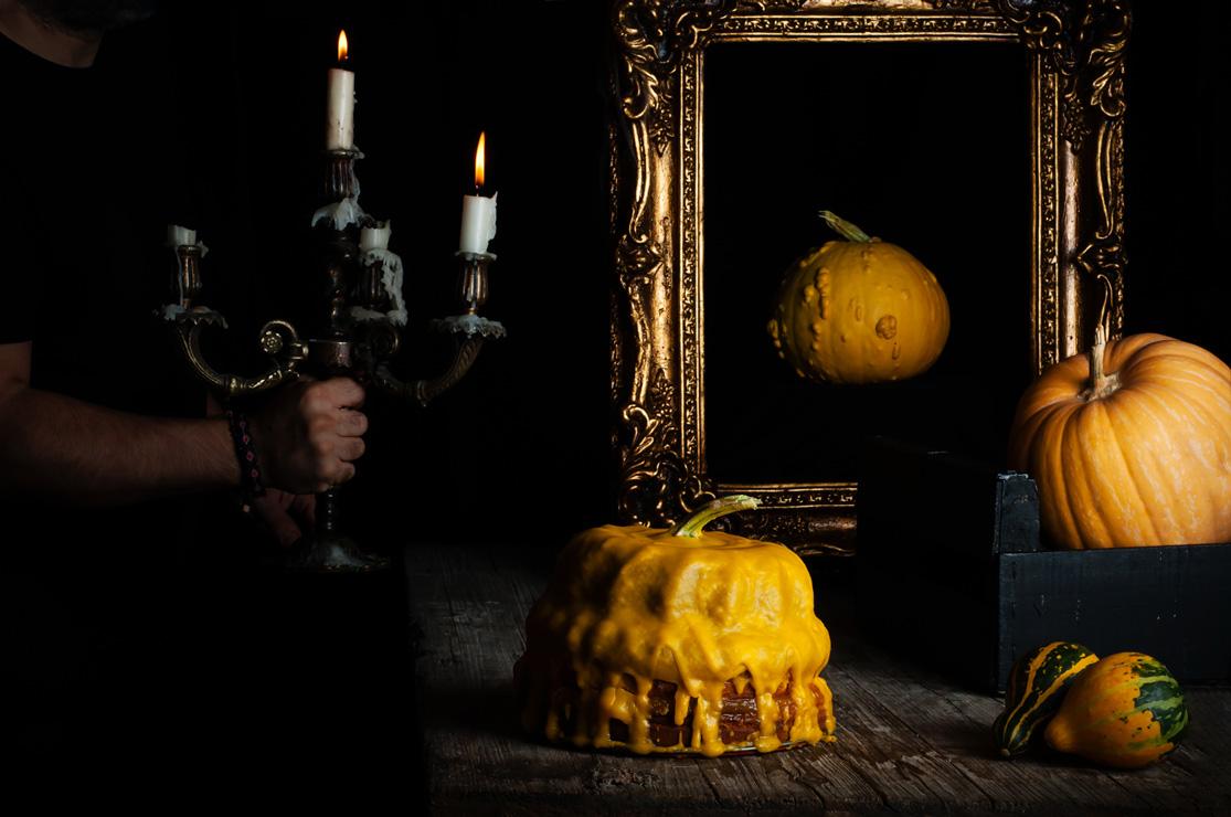 Receta de bizcocho de calabaza para Halloween