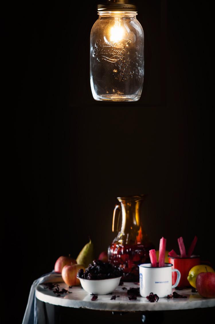 Preparación del ponche de frutas