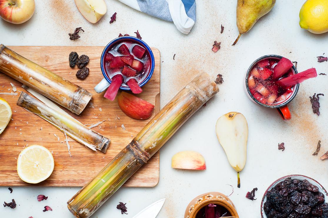 Ponche de frutas receta