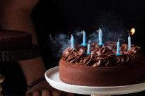 Tarta de cumpleaños de chocolate