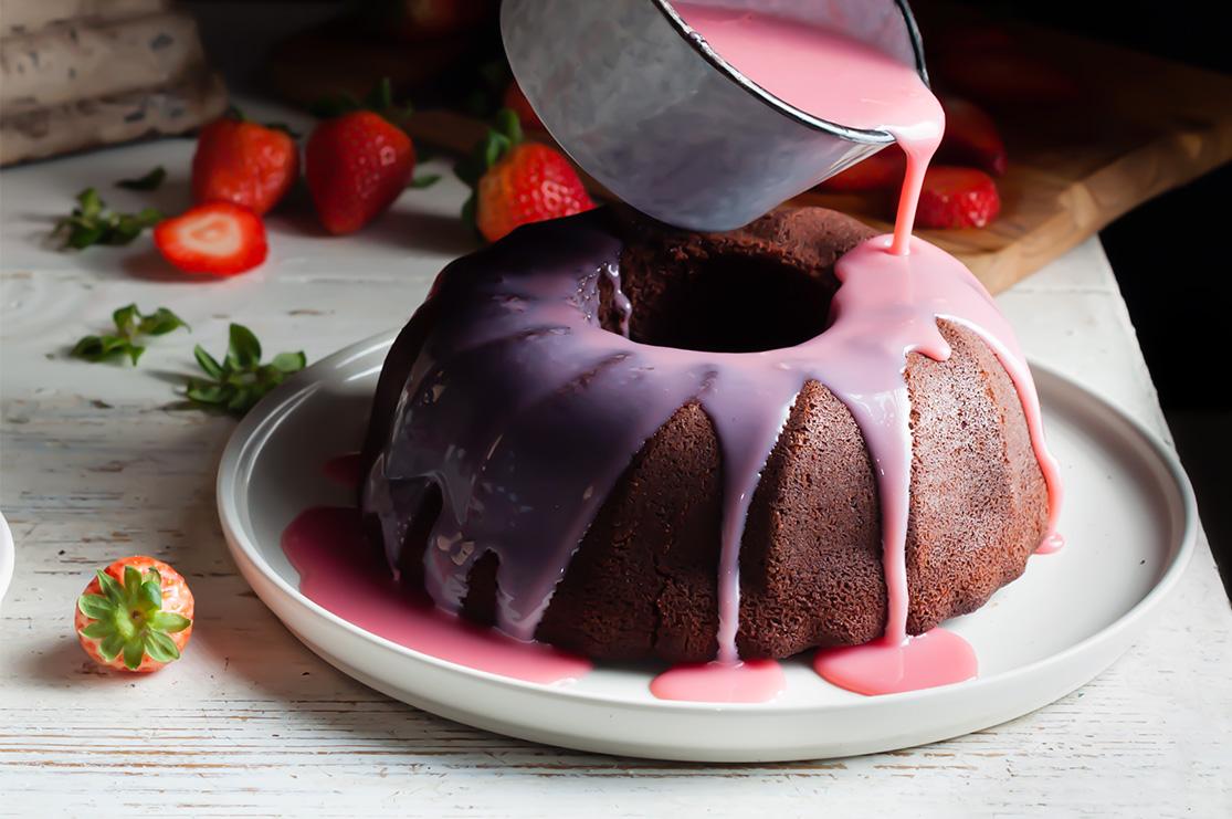 Bundt Cake de fresas